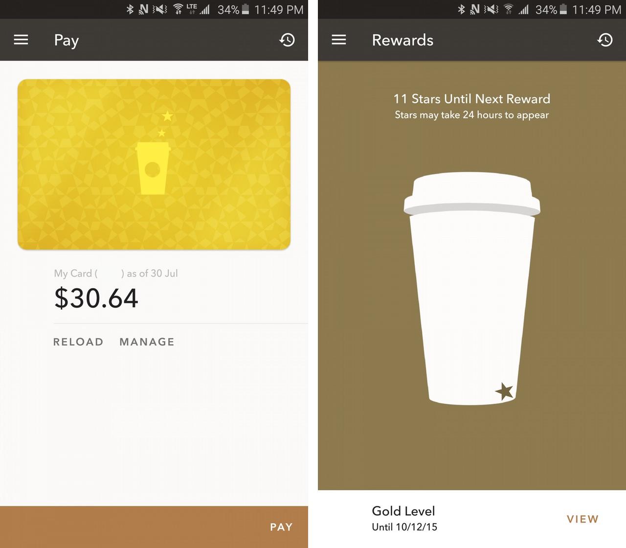 Starbucks Android App