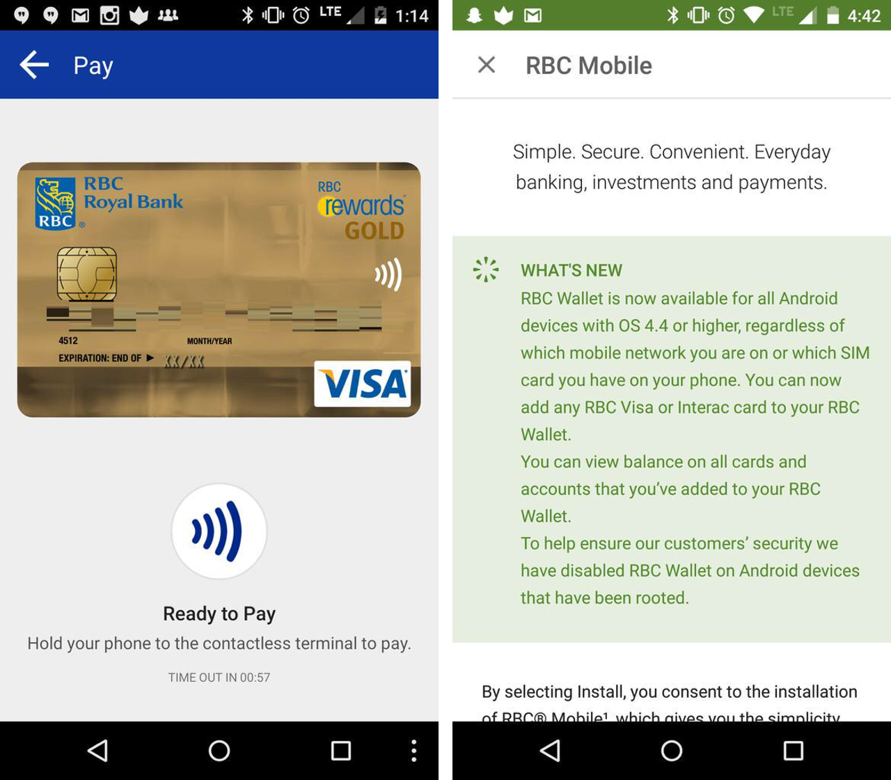 RBC expands mobile payment support to all Android phones running ...