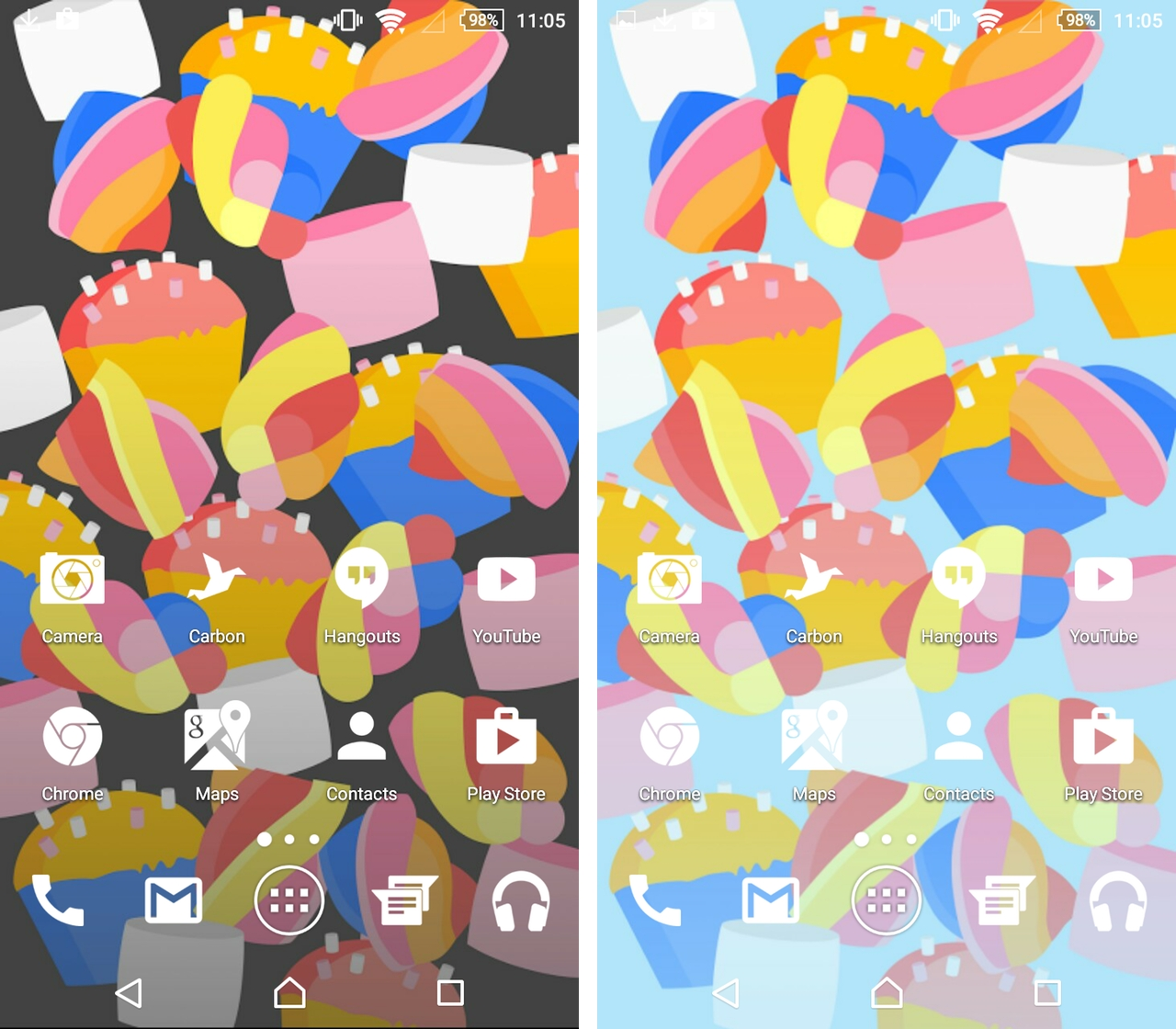 Google marks Android's seventh birthday with a trio of themed wallpapers