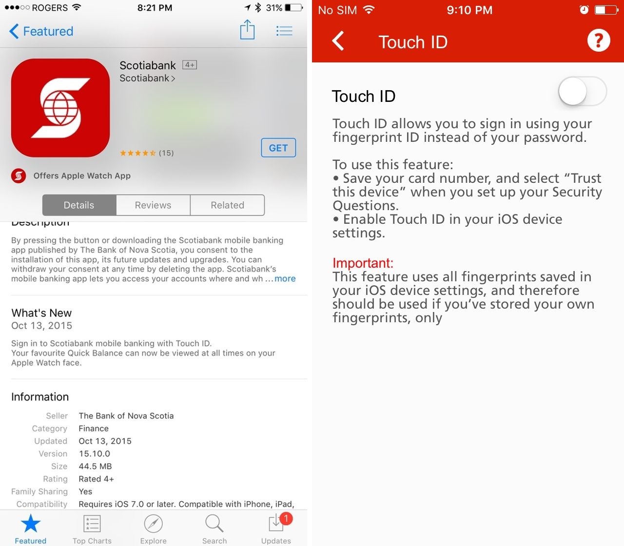 Scotiabank's iOS app update adds Touch ID support | MobileSyrup