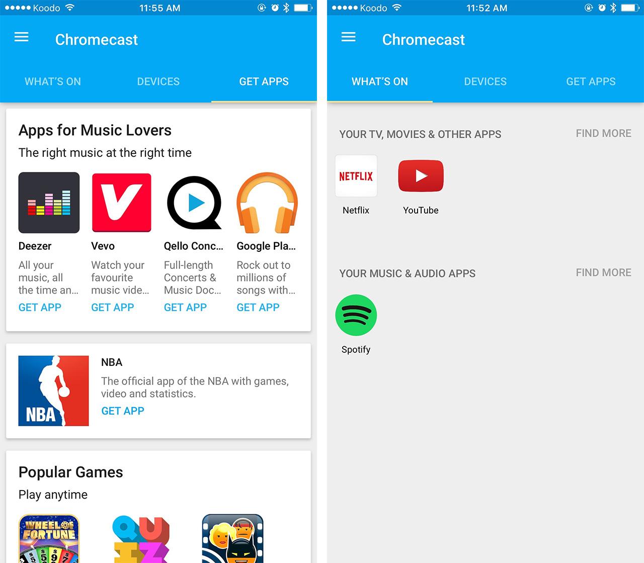 chromecast app for iphone photos