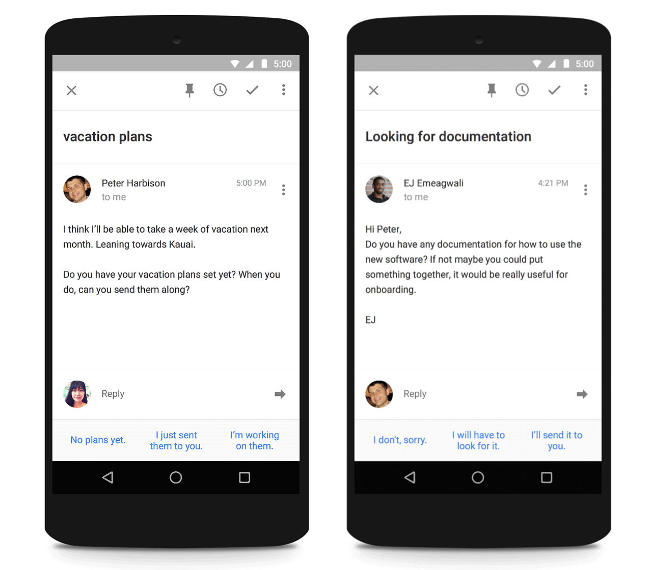 smart reply inbox by gmail