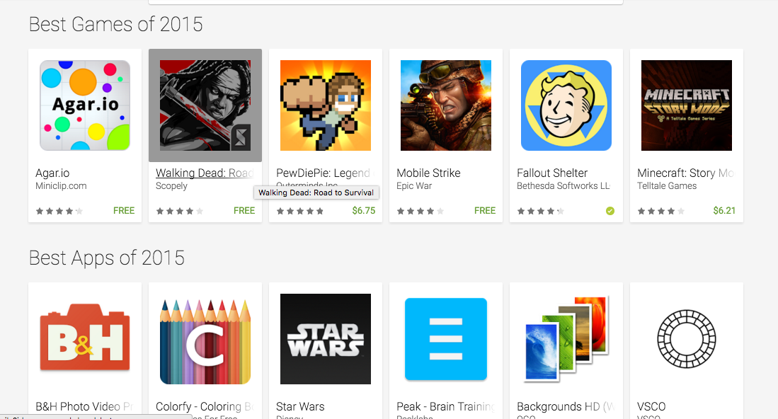 Google Play Store Best of 2015