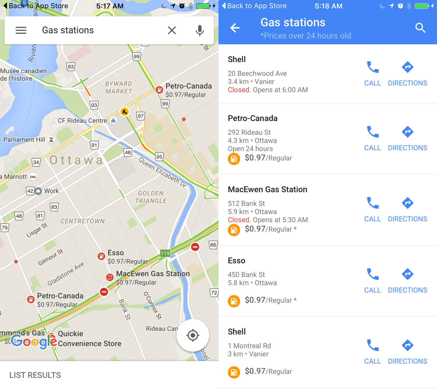 Google maps for ios gets built in gas prices mobilesyrup the majority of use cases for google maps come up when youre in your car and attempting to get useful information about a specific location ccuart Image collections