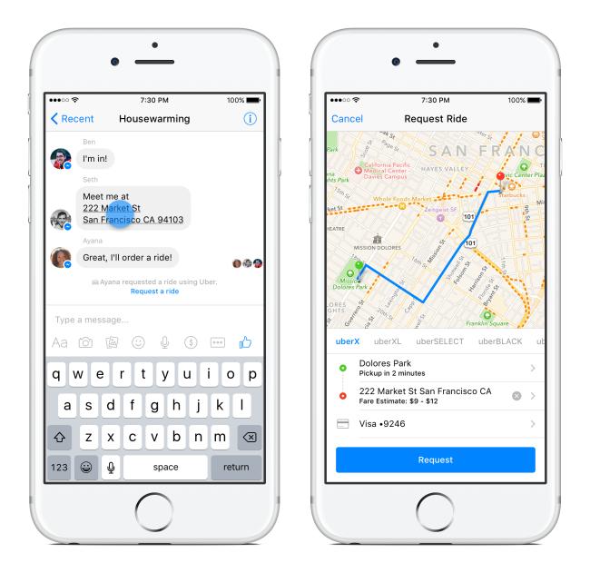 Messenger Uber