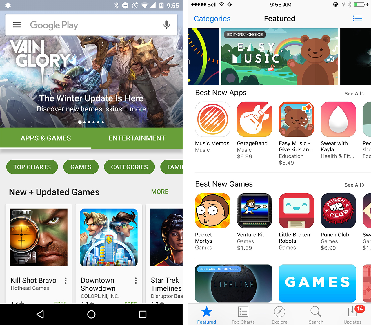 ios-android app store