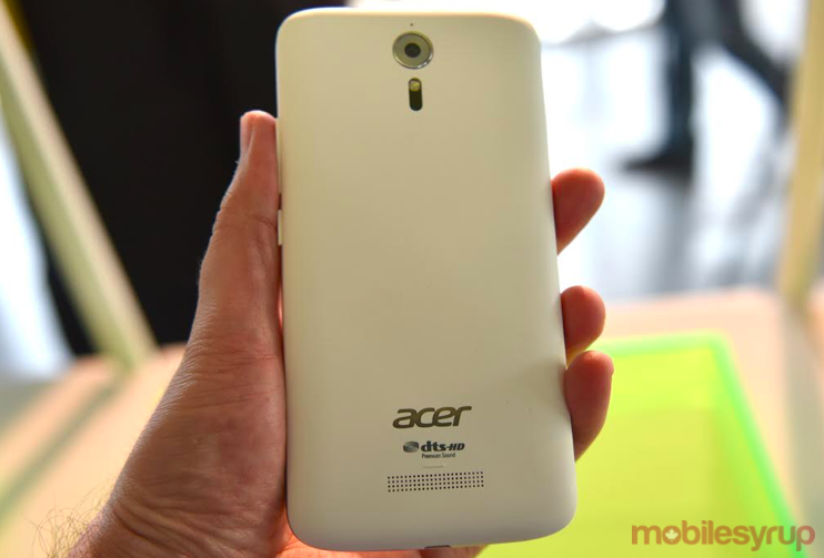 Acer Liquid Zest Plus back