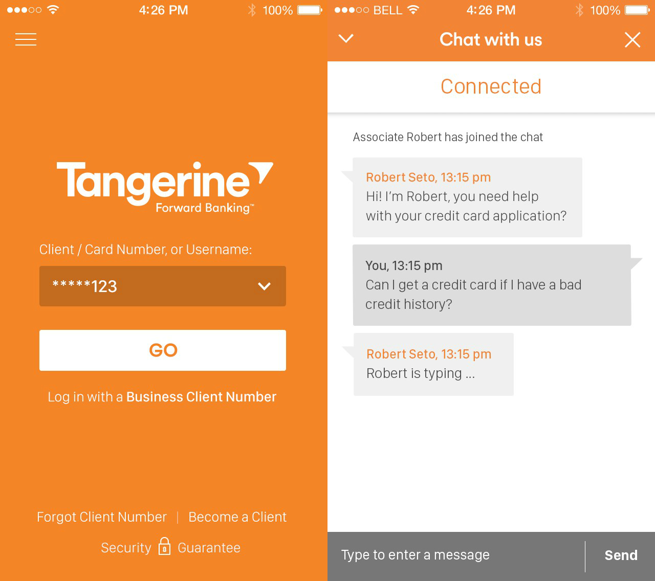 Tangerine Is The First Banking App In Canada To Launch Eye
