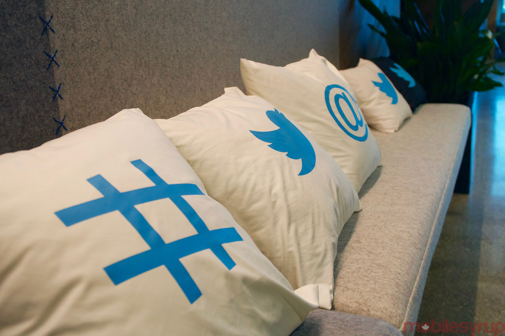 Twitter has an obsession with pillows, which can be found in great numbers throughout the company's Toronto outpost.
