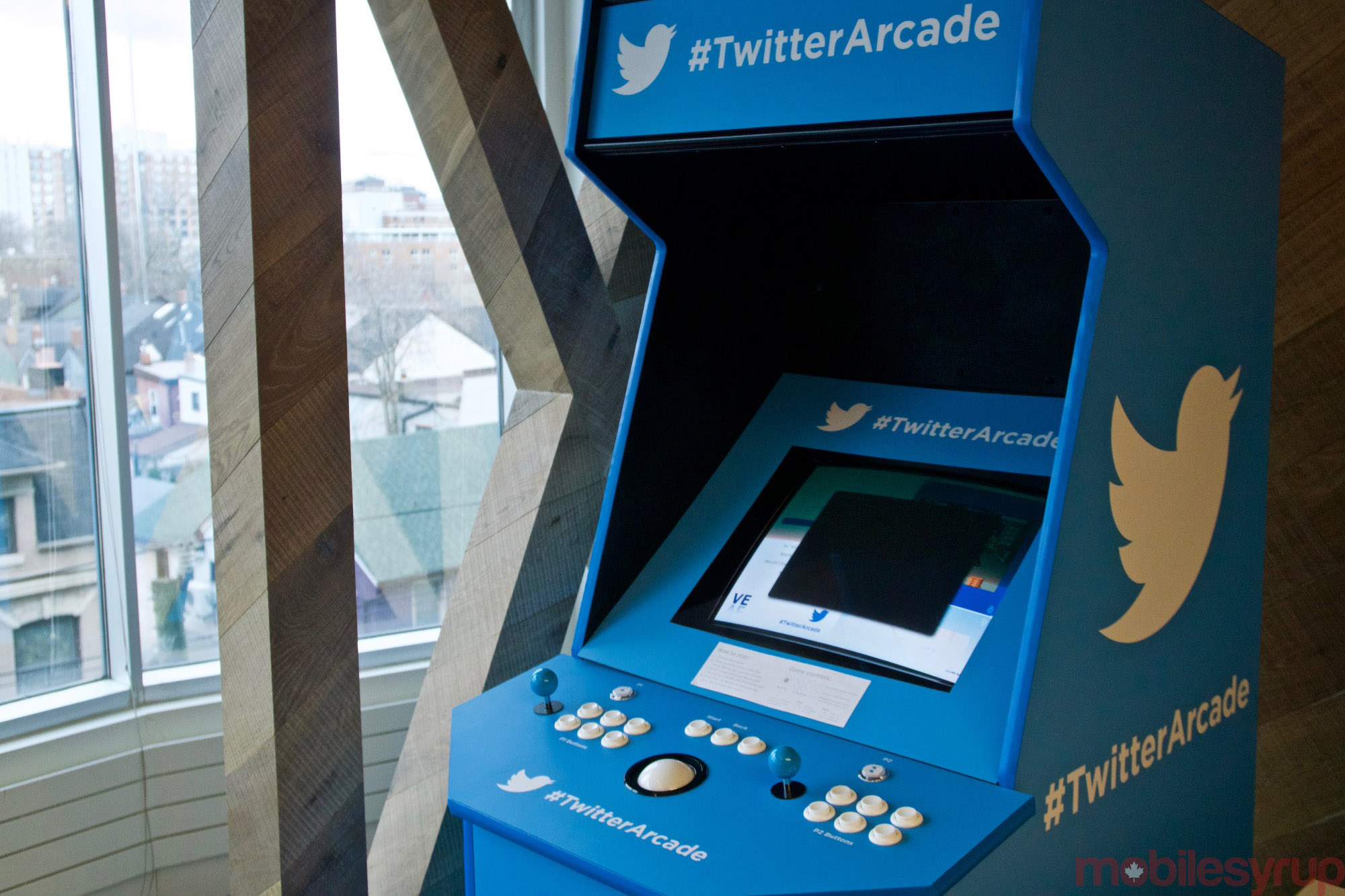 It's not all work at Twitter. There are also a variety of things for employees to use to unwind, including this arcade cabinet.