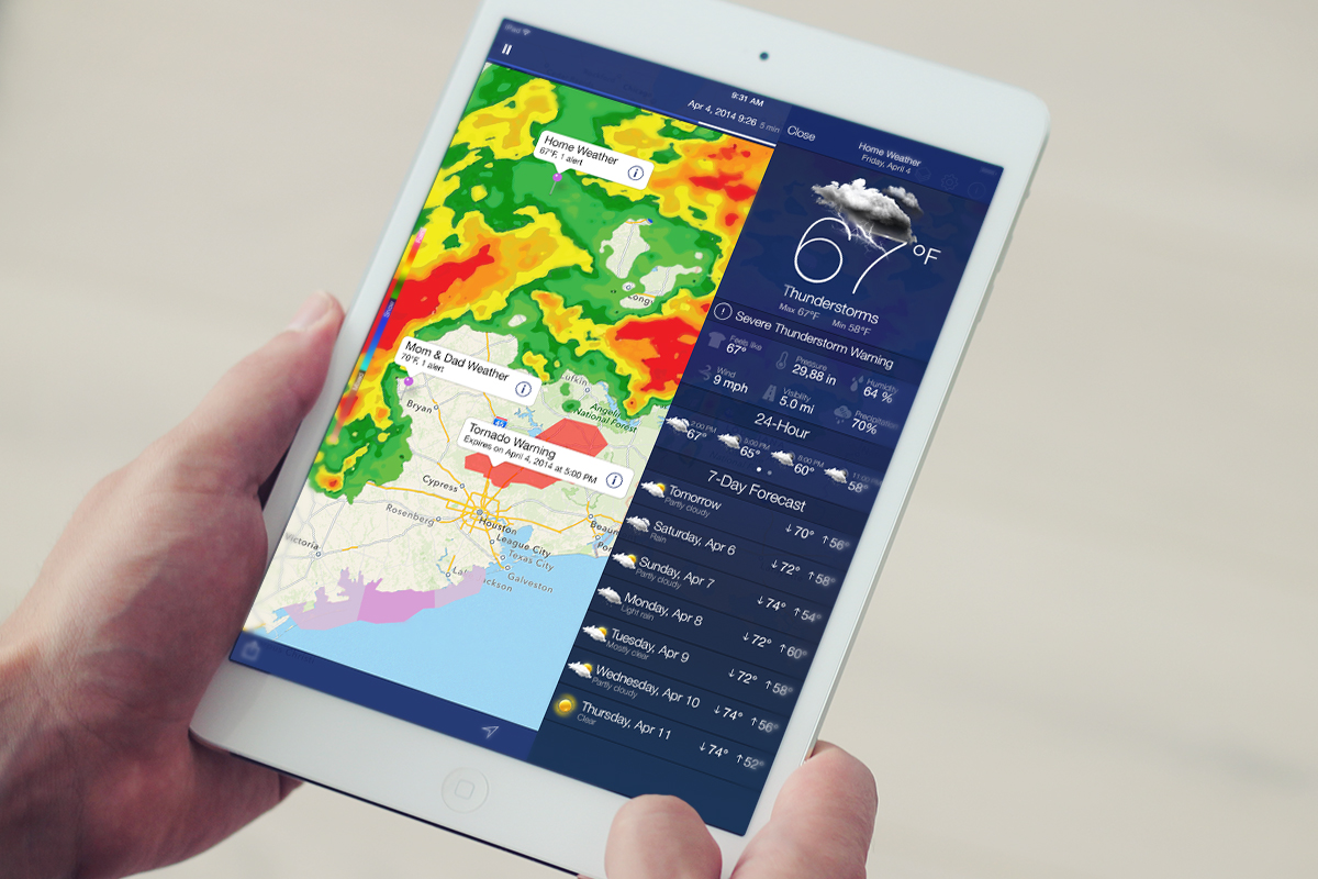Weather Map Apps.App Of The Week Noaa Weather Radar Lets You Go Full Meteorologist