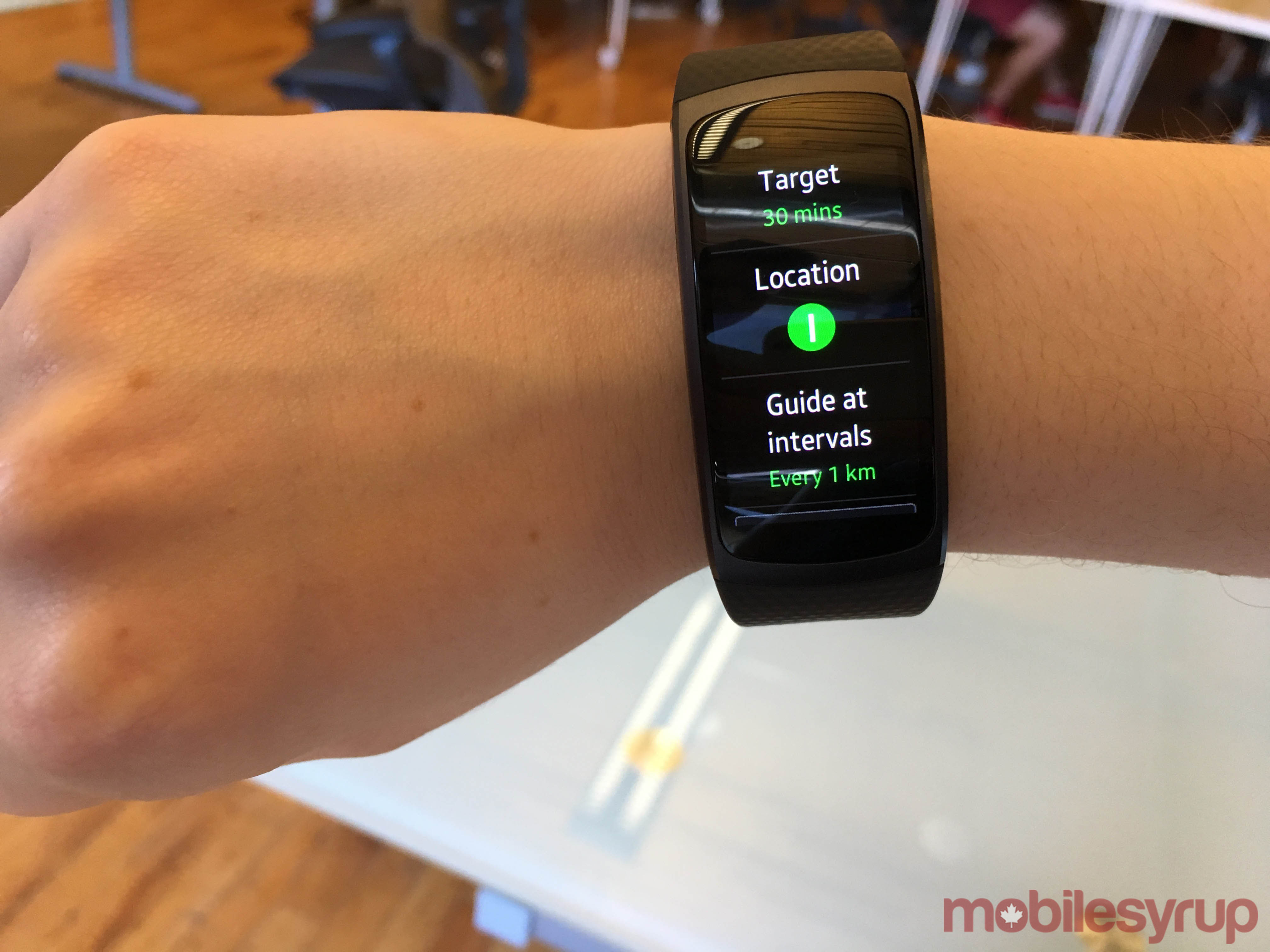 Samsung gear fit 2 gear iconx hands on putting fitness at the top - The Watch Pairs With The Gear Fit 2 App Available On Any Android Device Running 4 4 Or Higher But Not Predictably With An Iphone