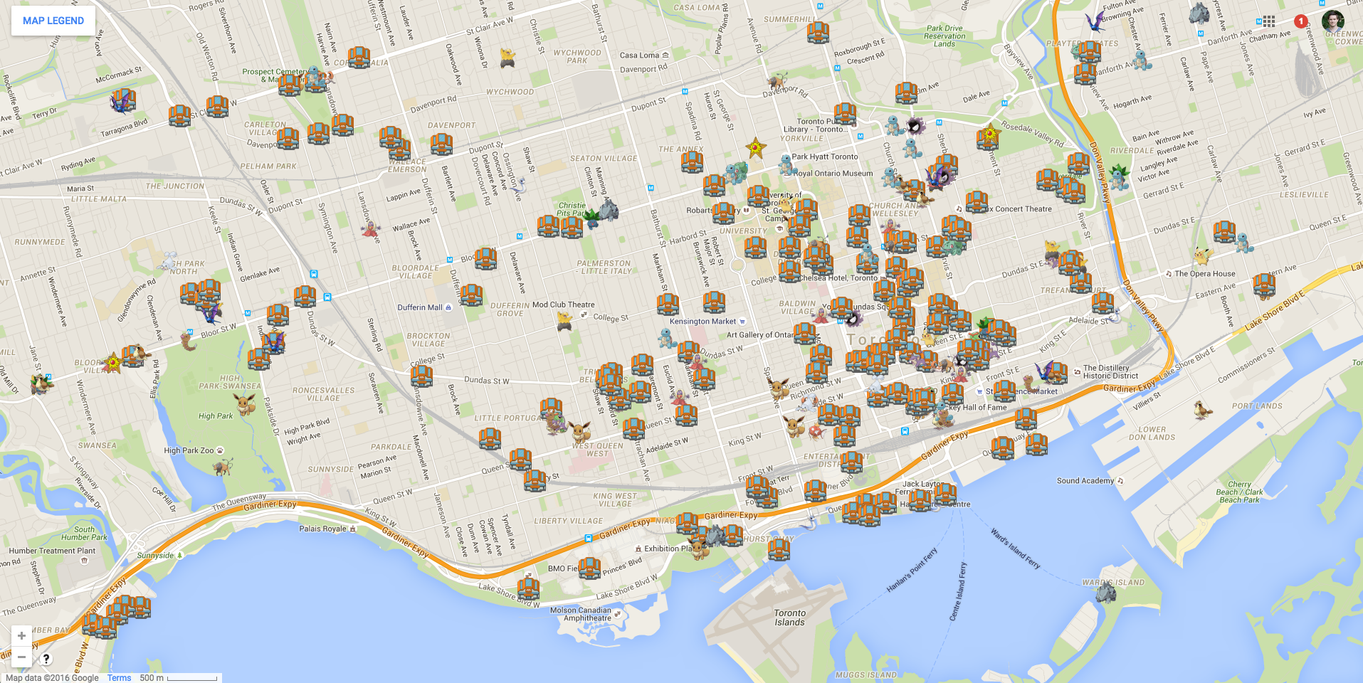 This crowdsourced map shows where to find Pokémon in Toronto [Update