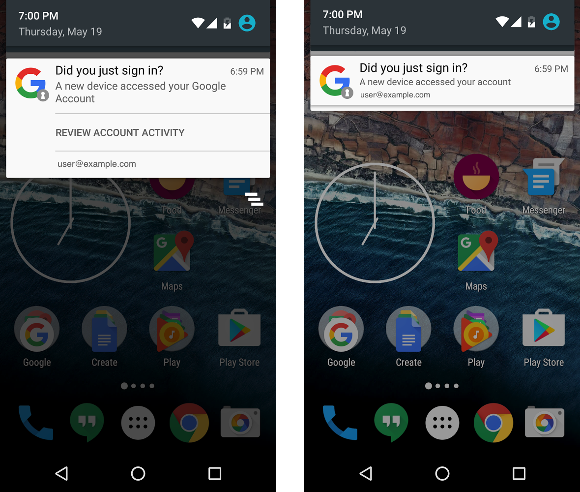 Android Access Notifications