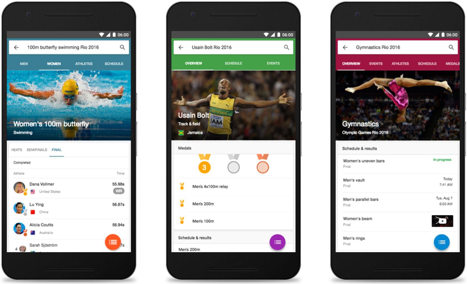 Google Rio Olympics search