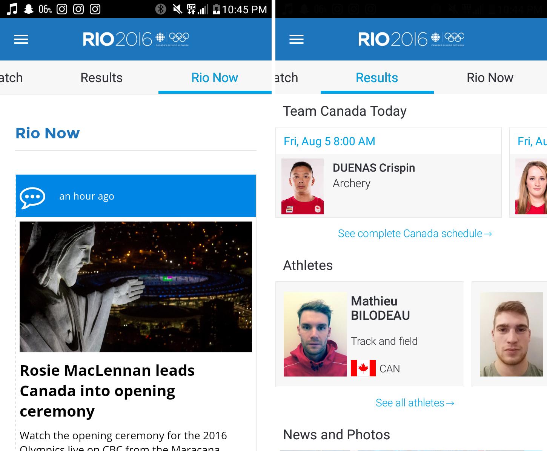 rio 2016 cbc app 2