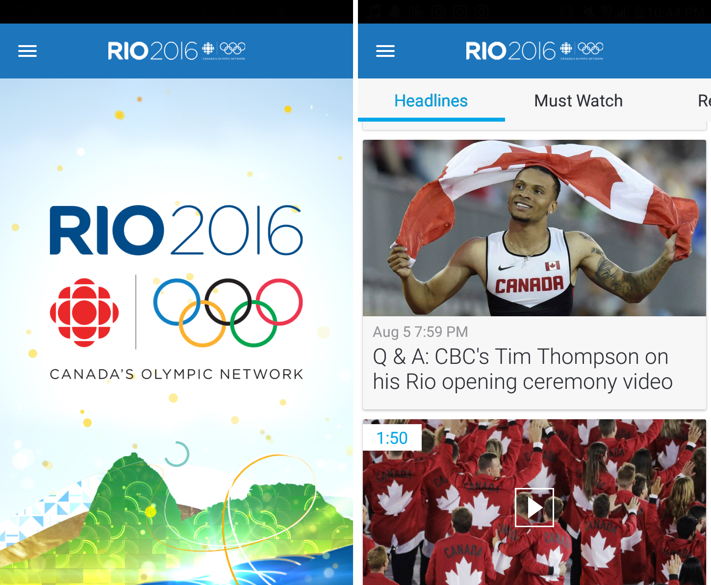keep tabs on canada's olympic progress with cbc rio 2016 [app of the