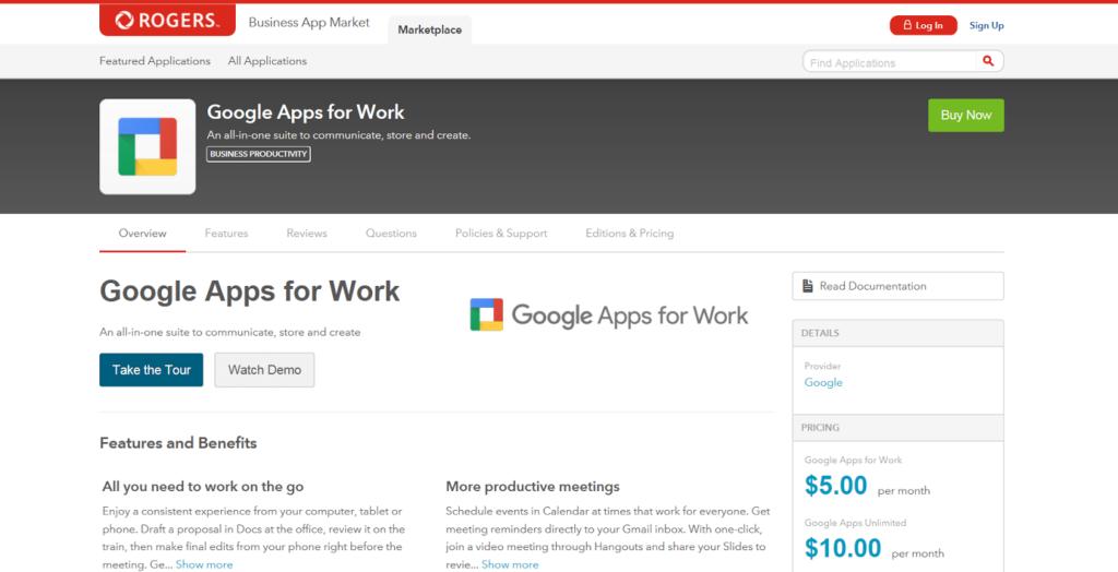 Rogers Business App Market