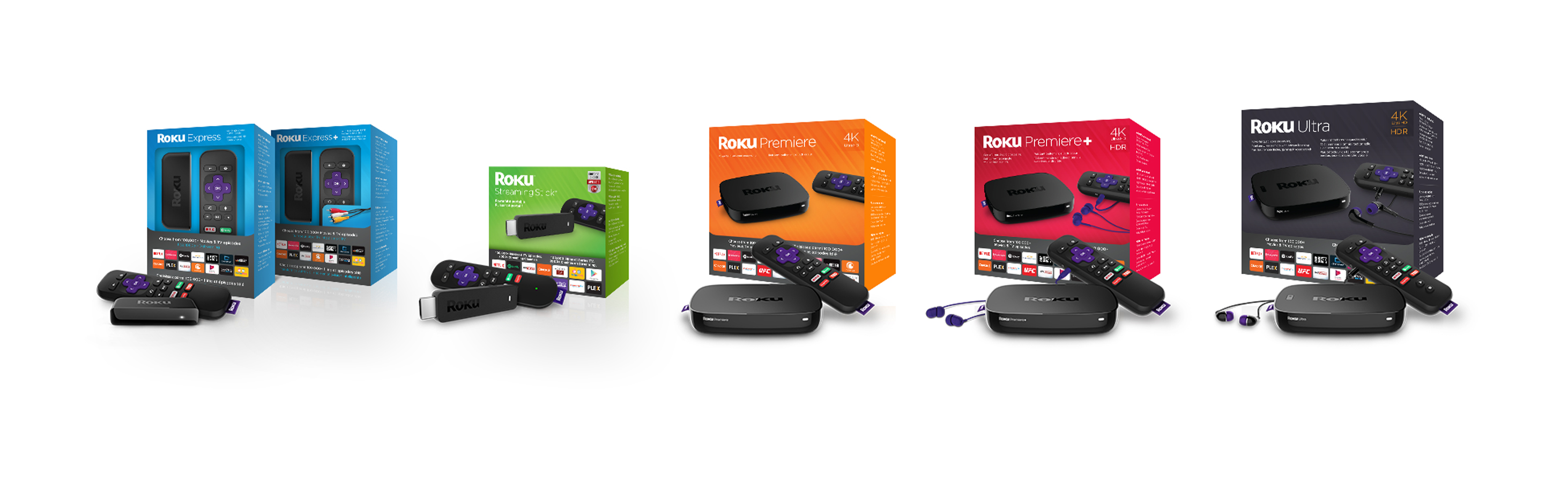 Roku Line-up Packaging Wide