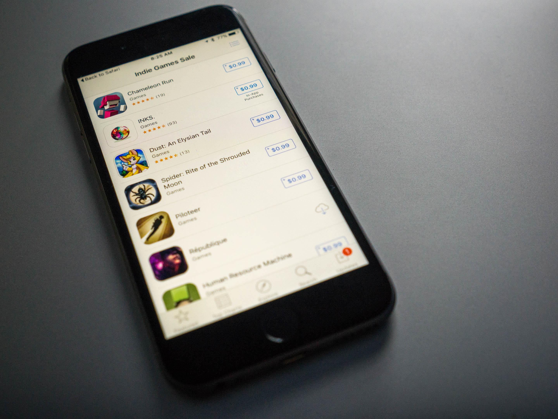 iTunes Indie Games Sales