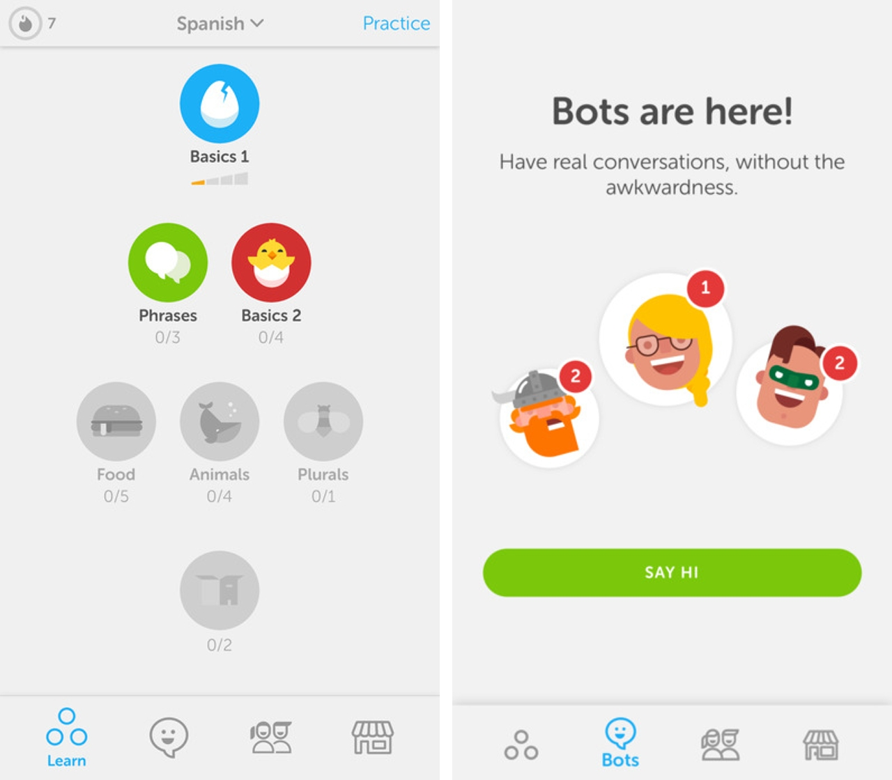Learn a language by talking to one Duolingo's new chatbots | MobileSyrup