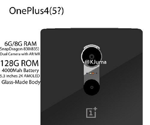 OnePlus 4 leaked specs