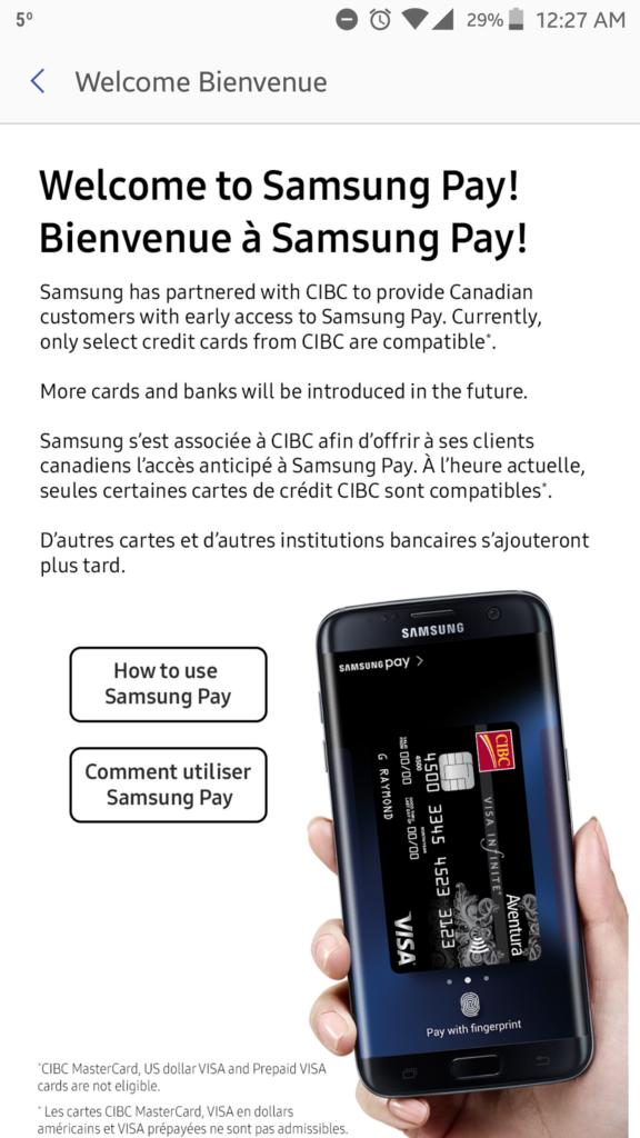 Samsung Pay CIBC