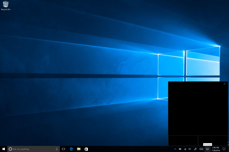 Windows 10's new virtual track pad