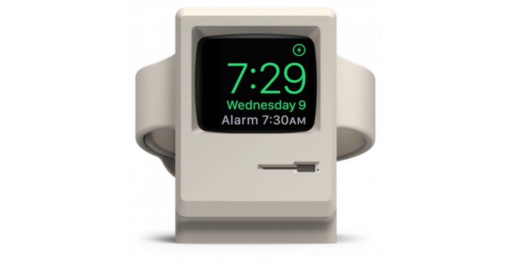 Turn your Apple Watch into a tiny classic Macintosh with this charging stand