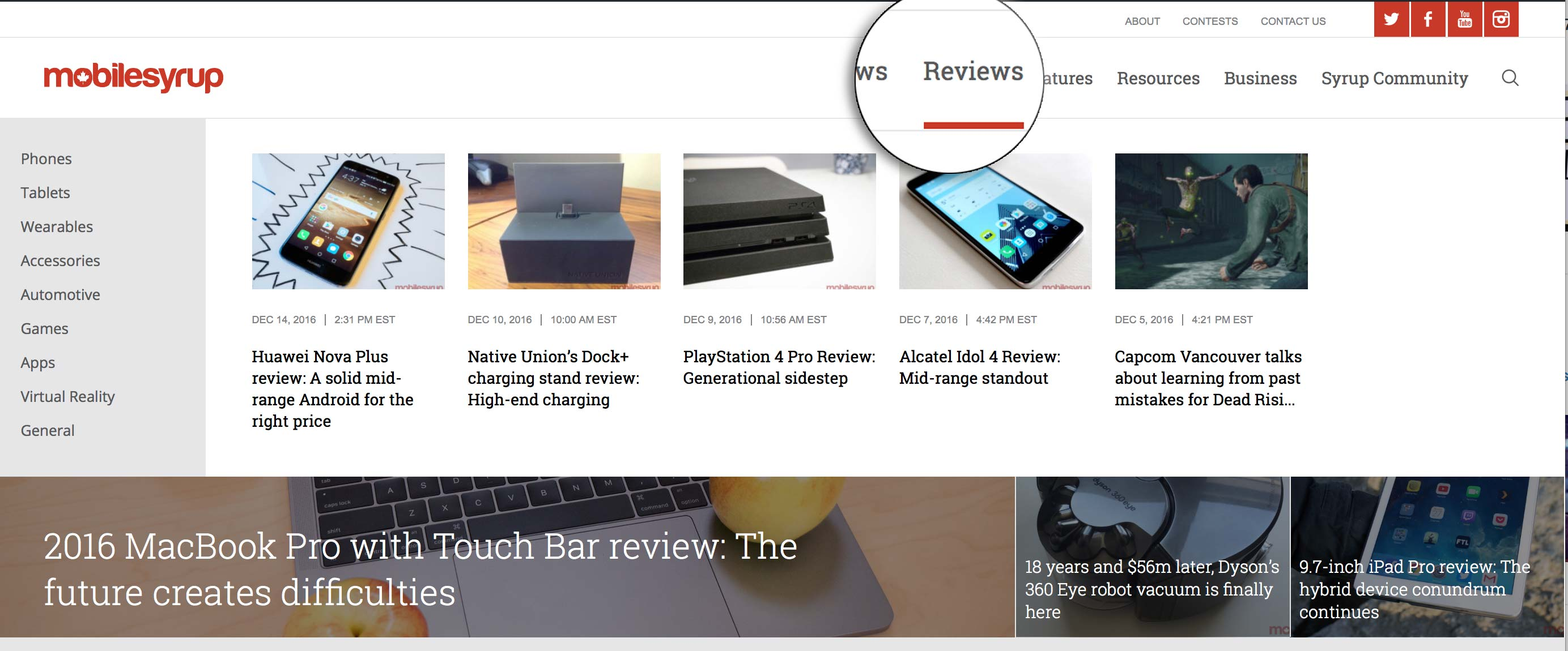 homepage-sections-review