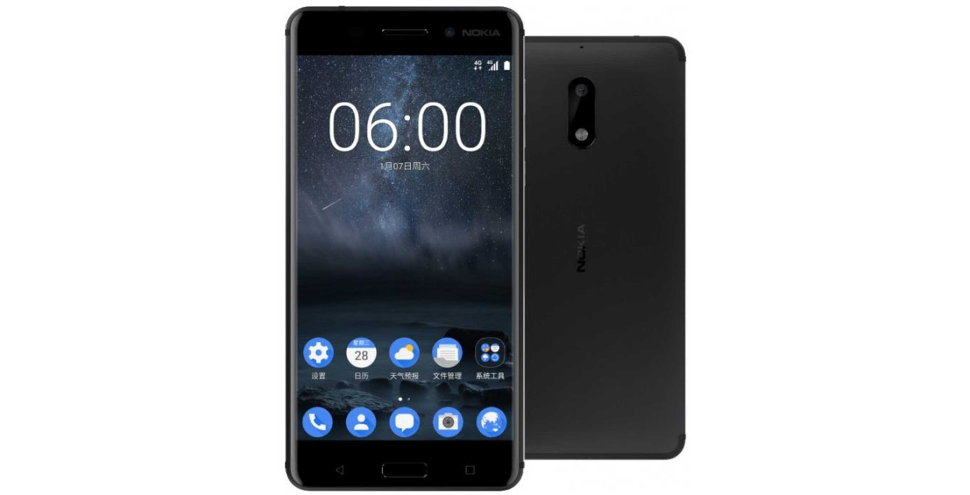 Render of Nokia 6 smartphone