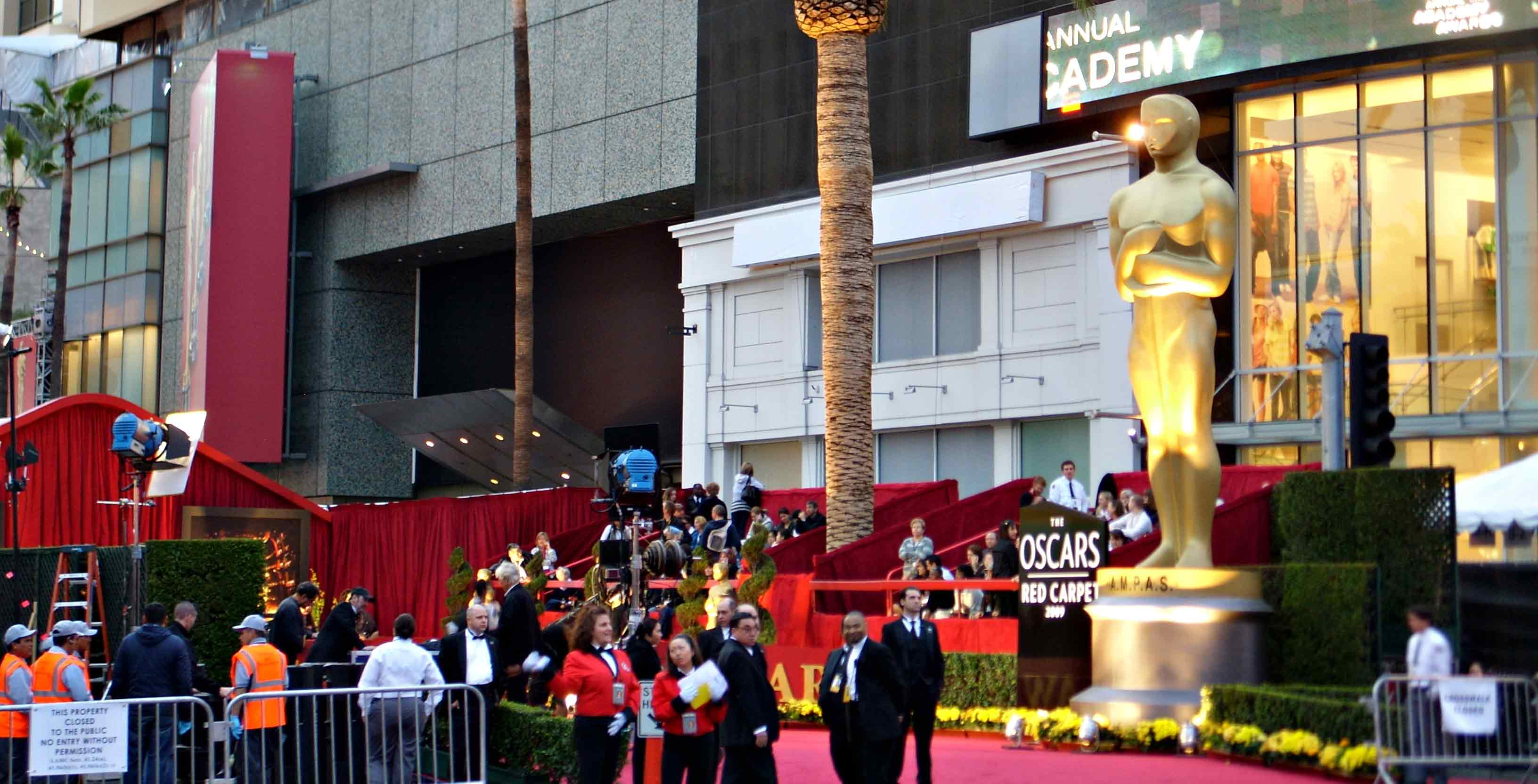 Photograph from the Oscars
