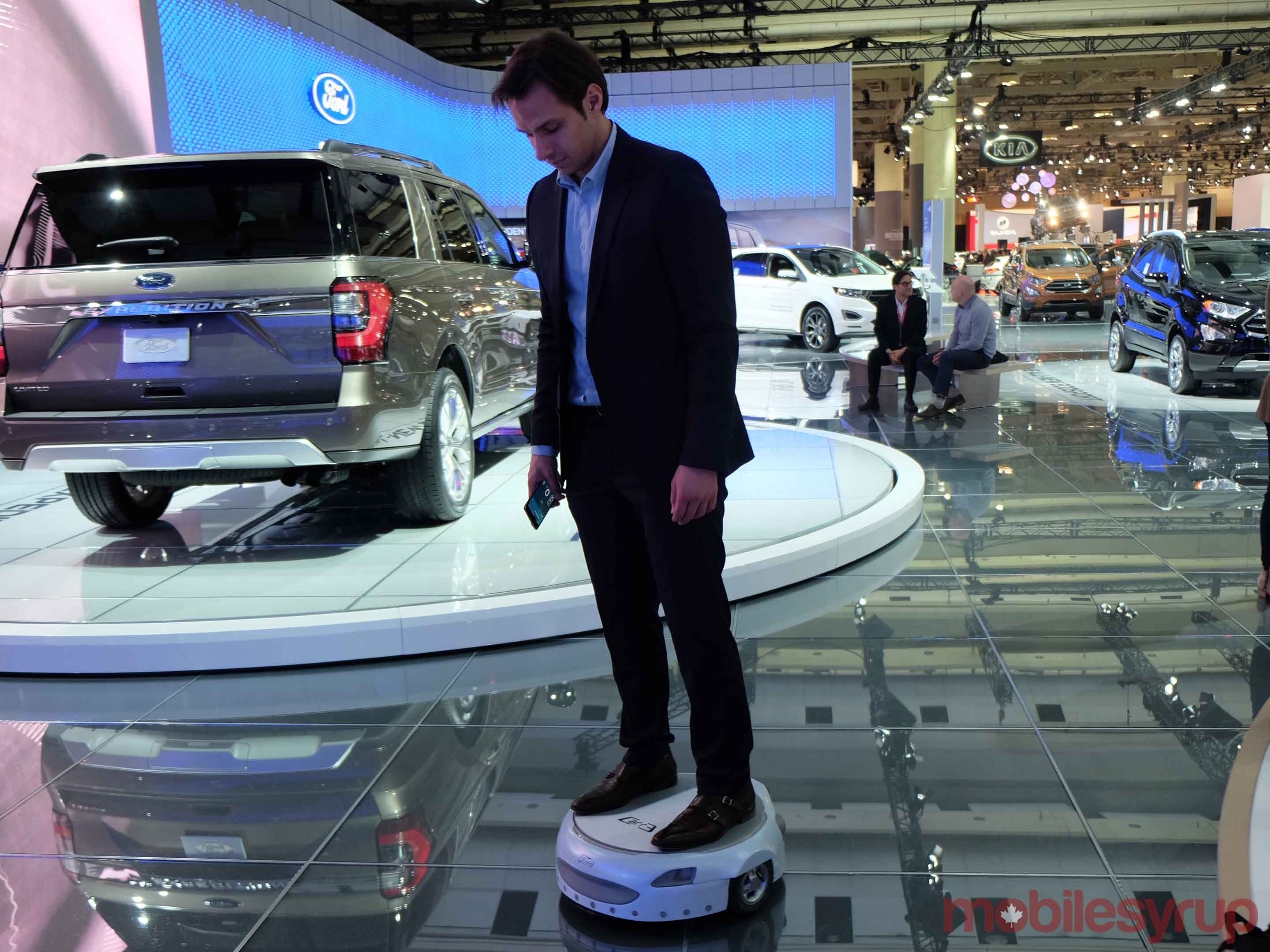 The Carr-E in action at the AutoShow