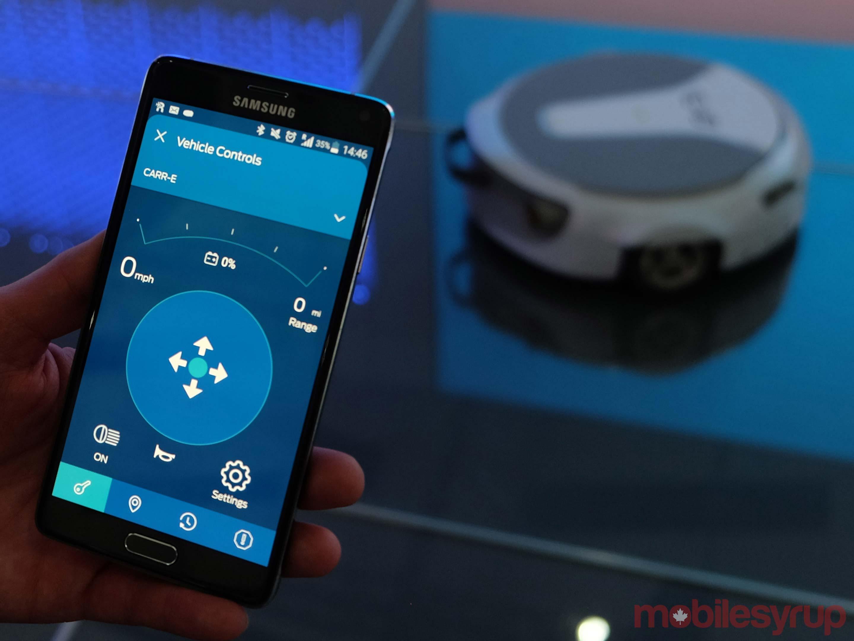Carr-E app on a smartphone