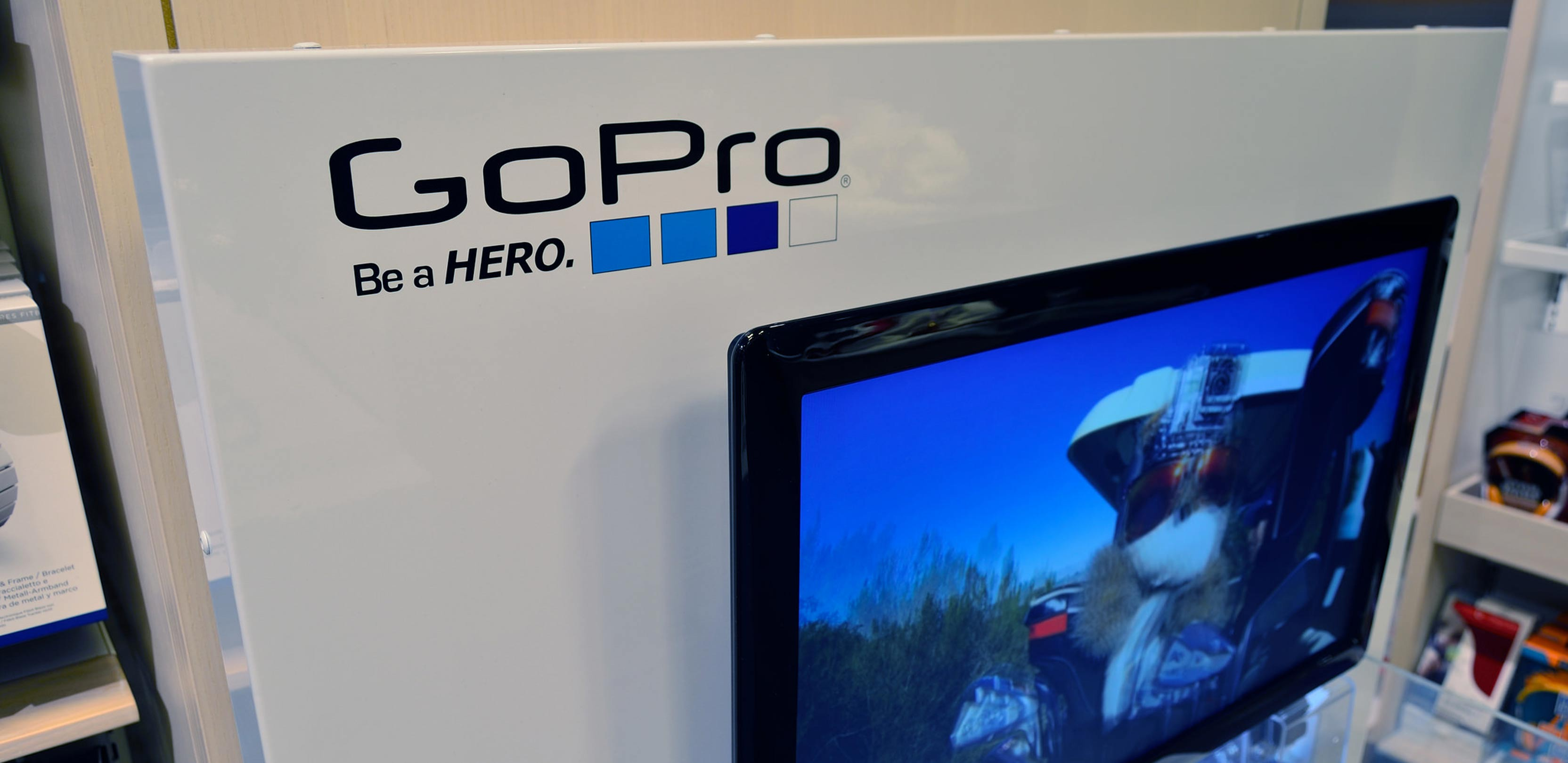 GoPro display at a store