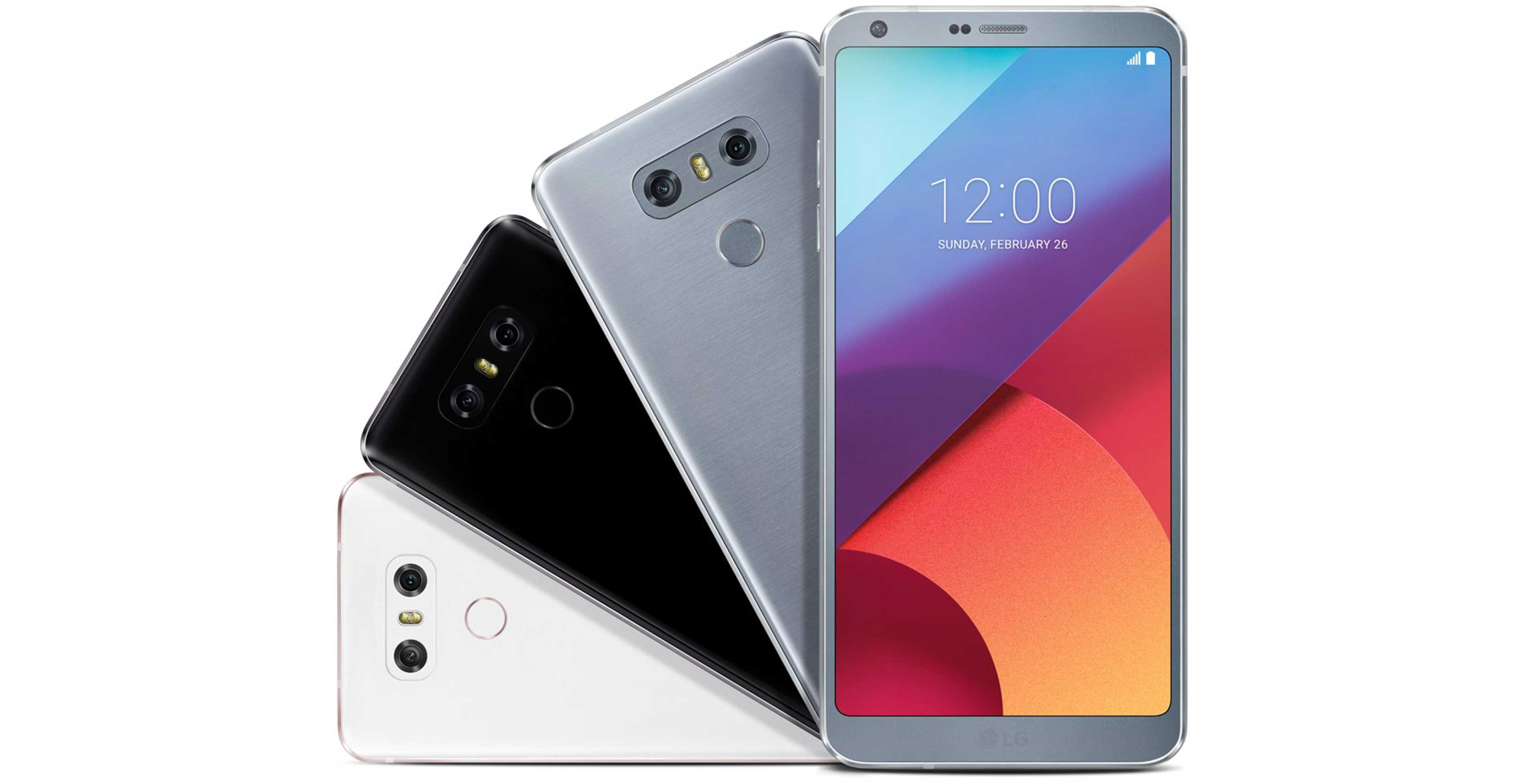 LG G6 colour selection