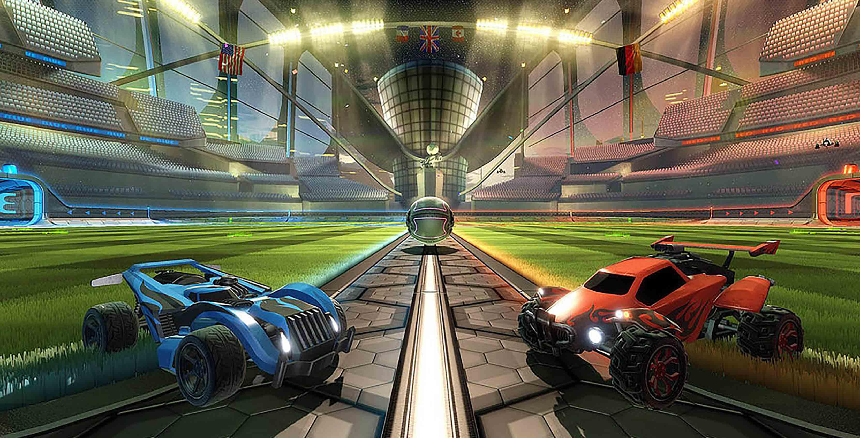 Rocket League game shot