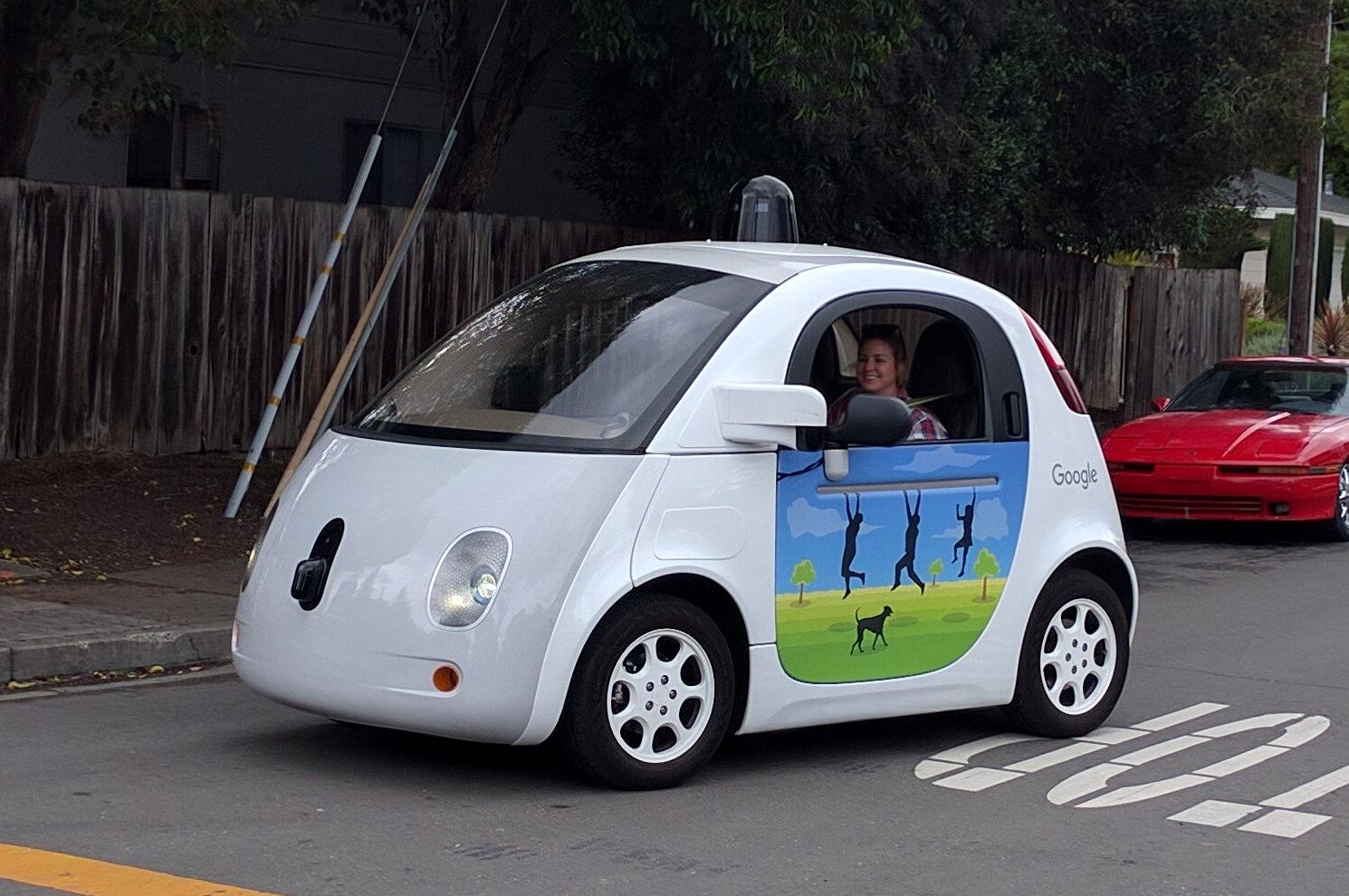 Waymo Driverless Car on road