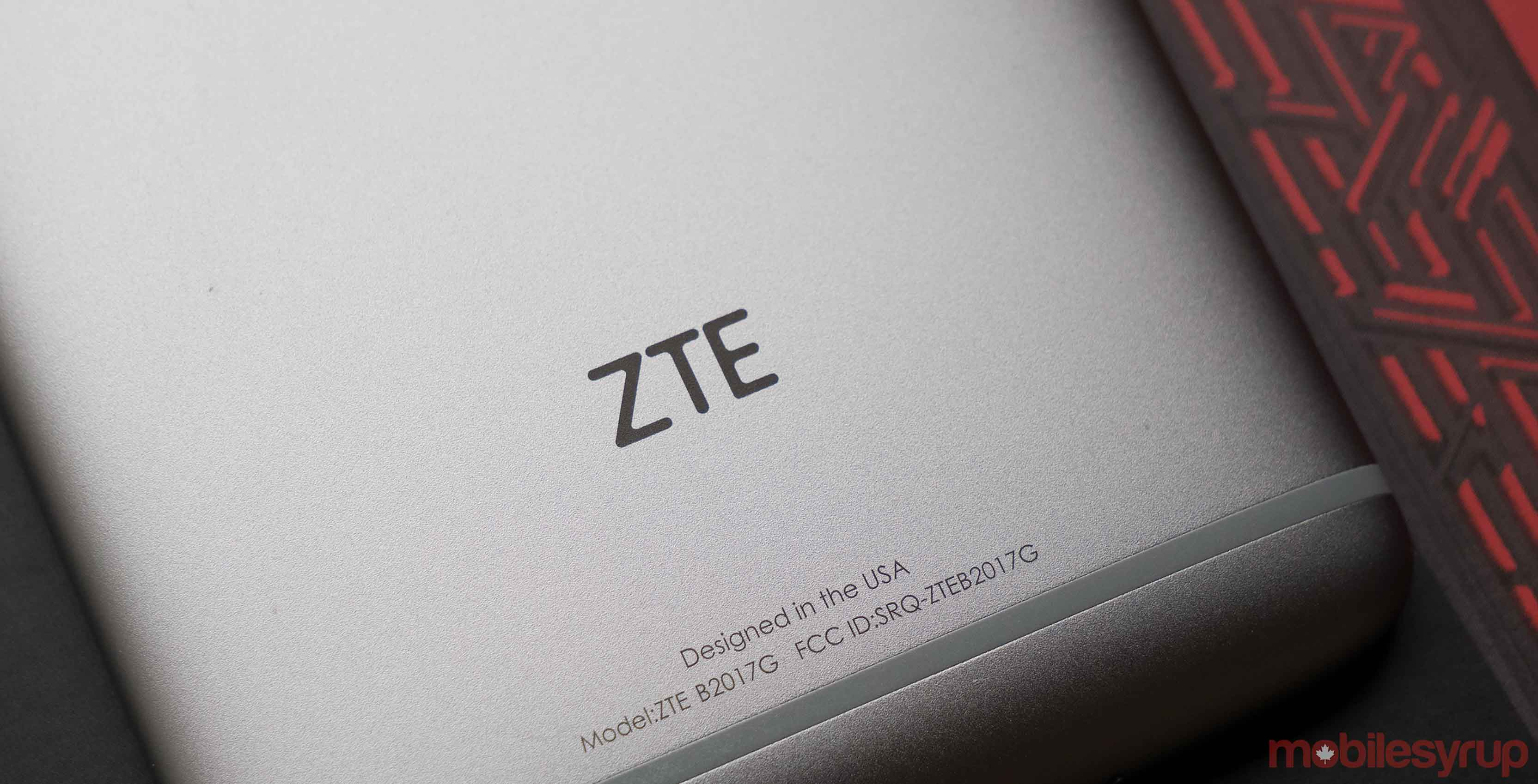 ZTE logo on the Axon 7