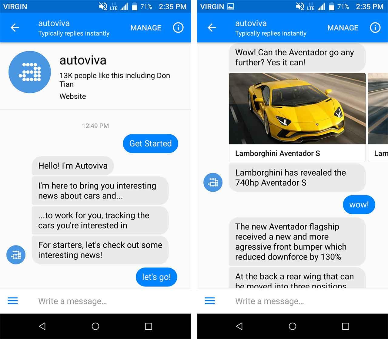 autoviva bot beginning convo