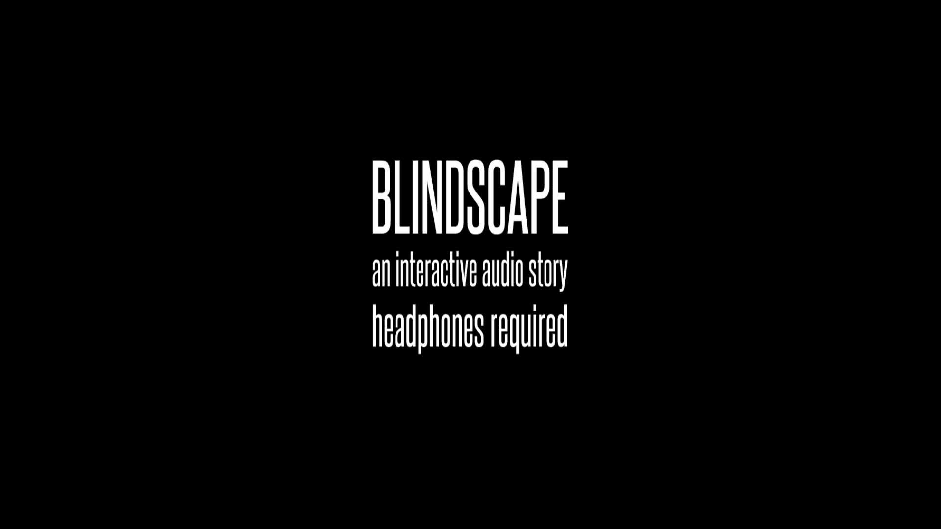 blindscape title screen