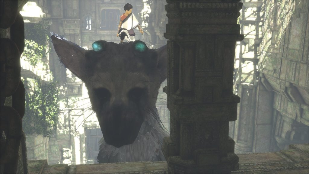 The Last Guardian riding Trico