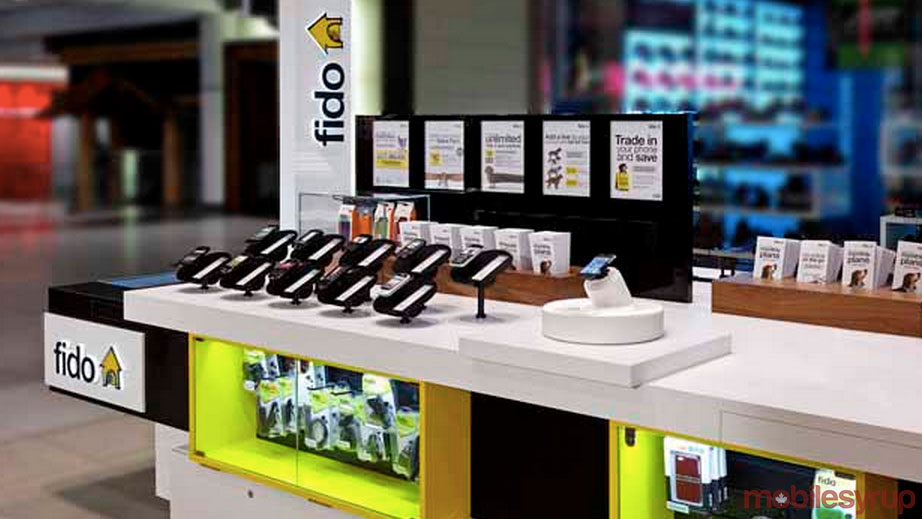 fido mall kiosk - Fido is seemingly blocking texts