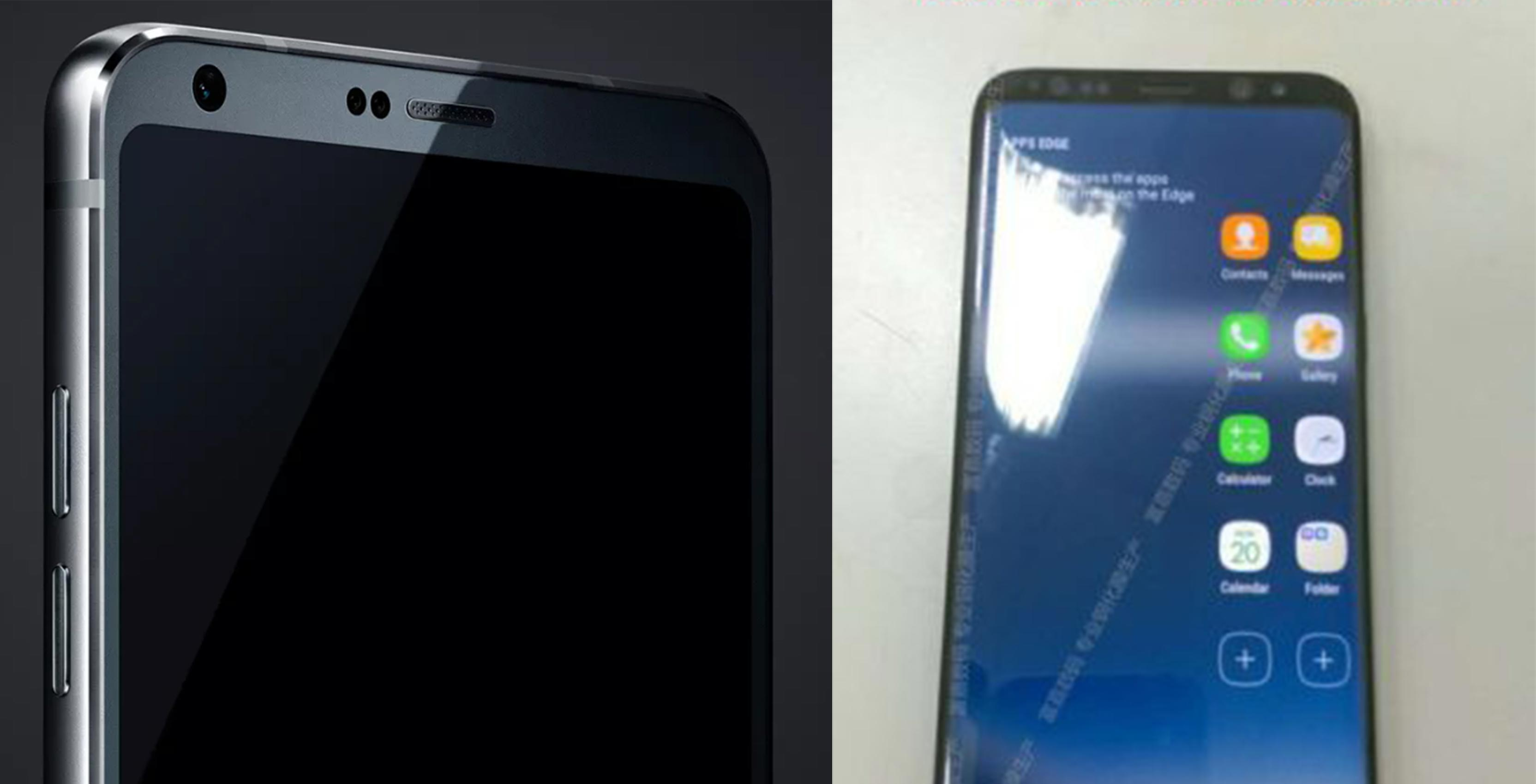 Leaked photo of the Galaxy S8 and G6