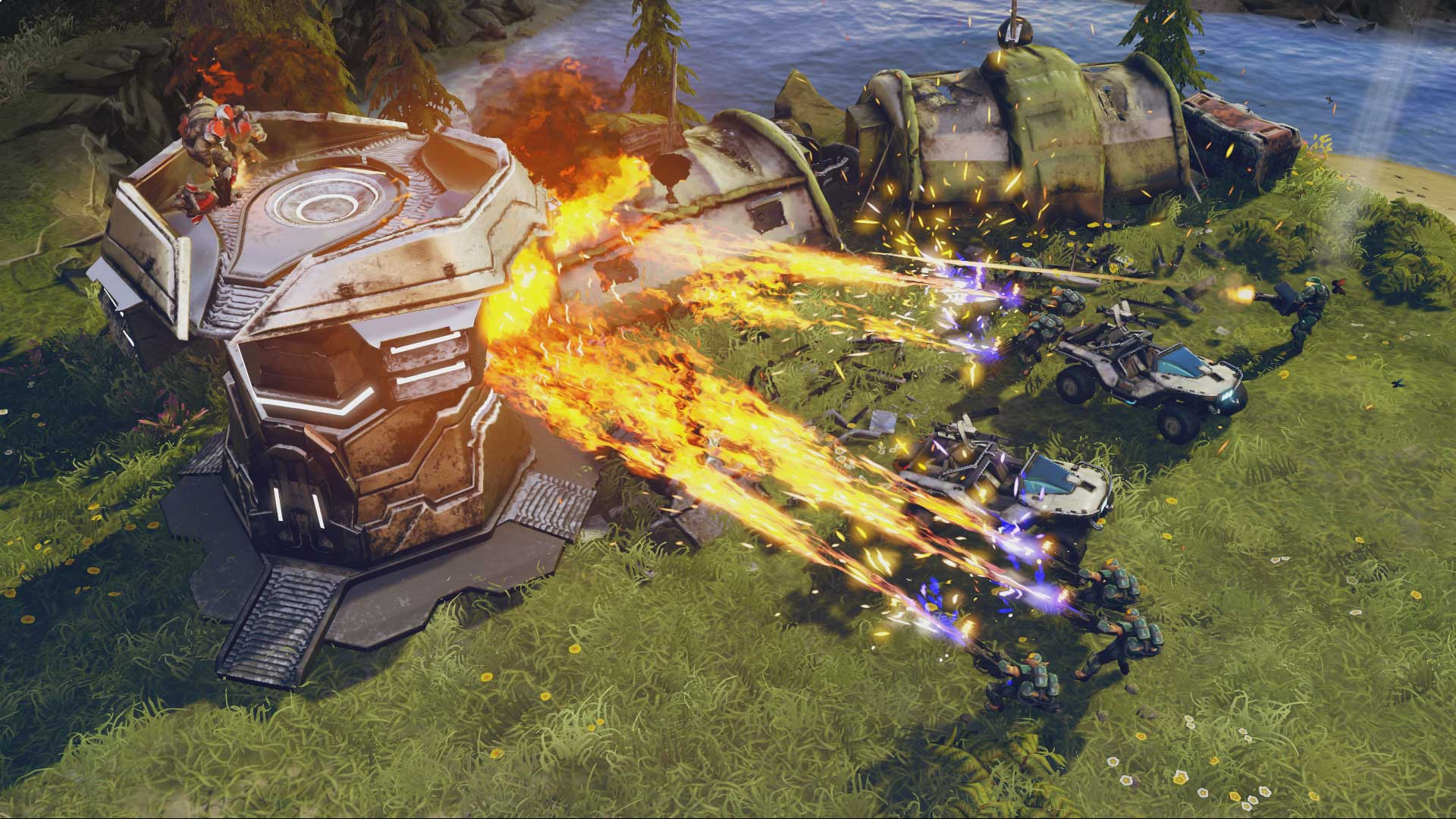 Shooting fire in Halo Wars 2