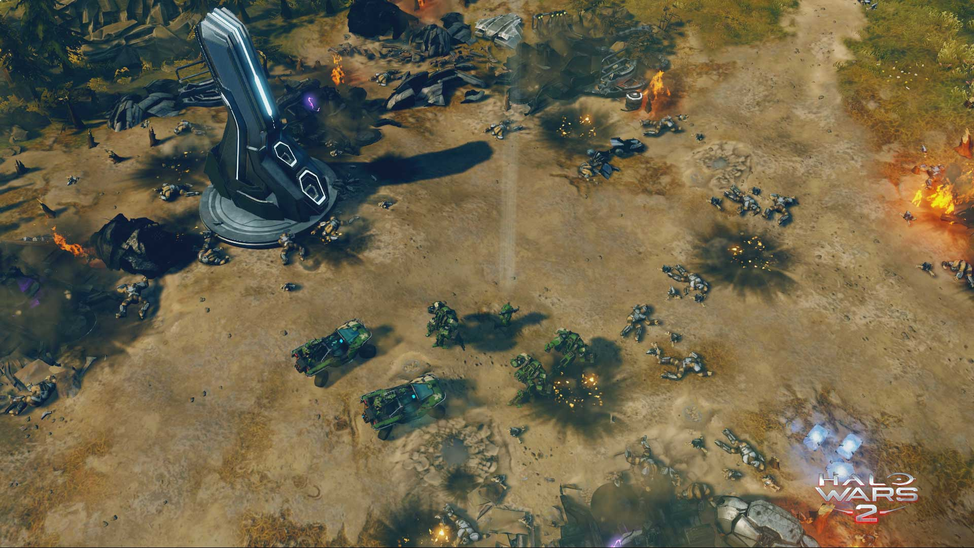 Destroyed Covenant base in Halo Wars 2