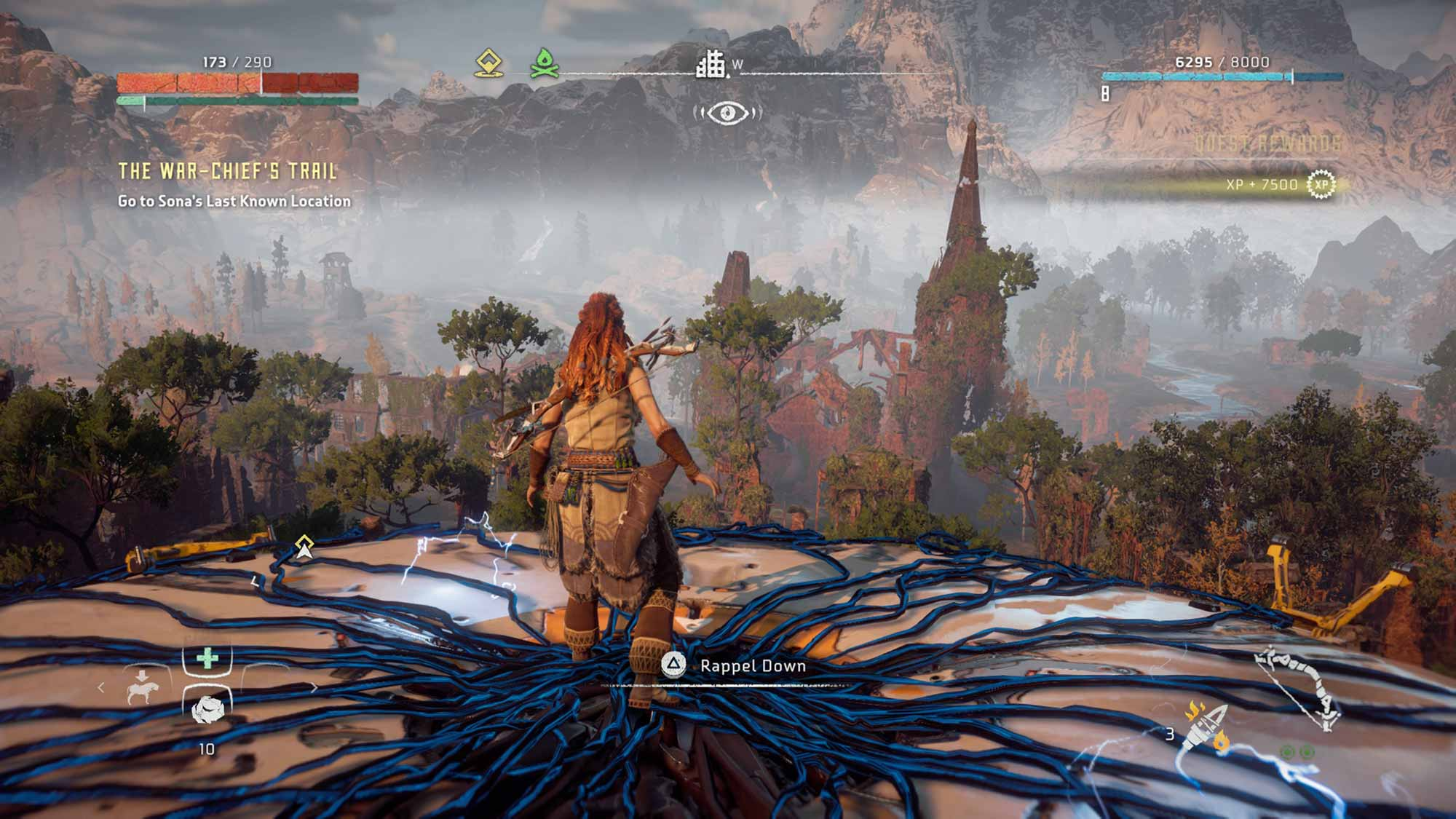 Standing on top of a Tallhead in Horizon