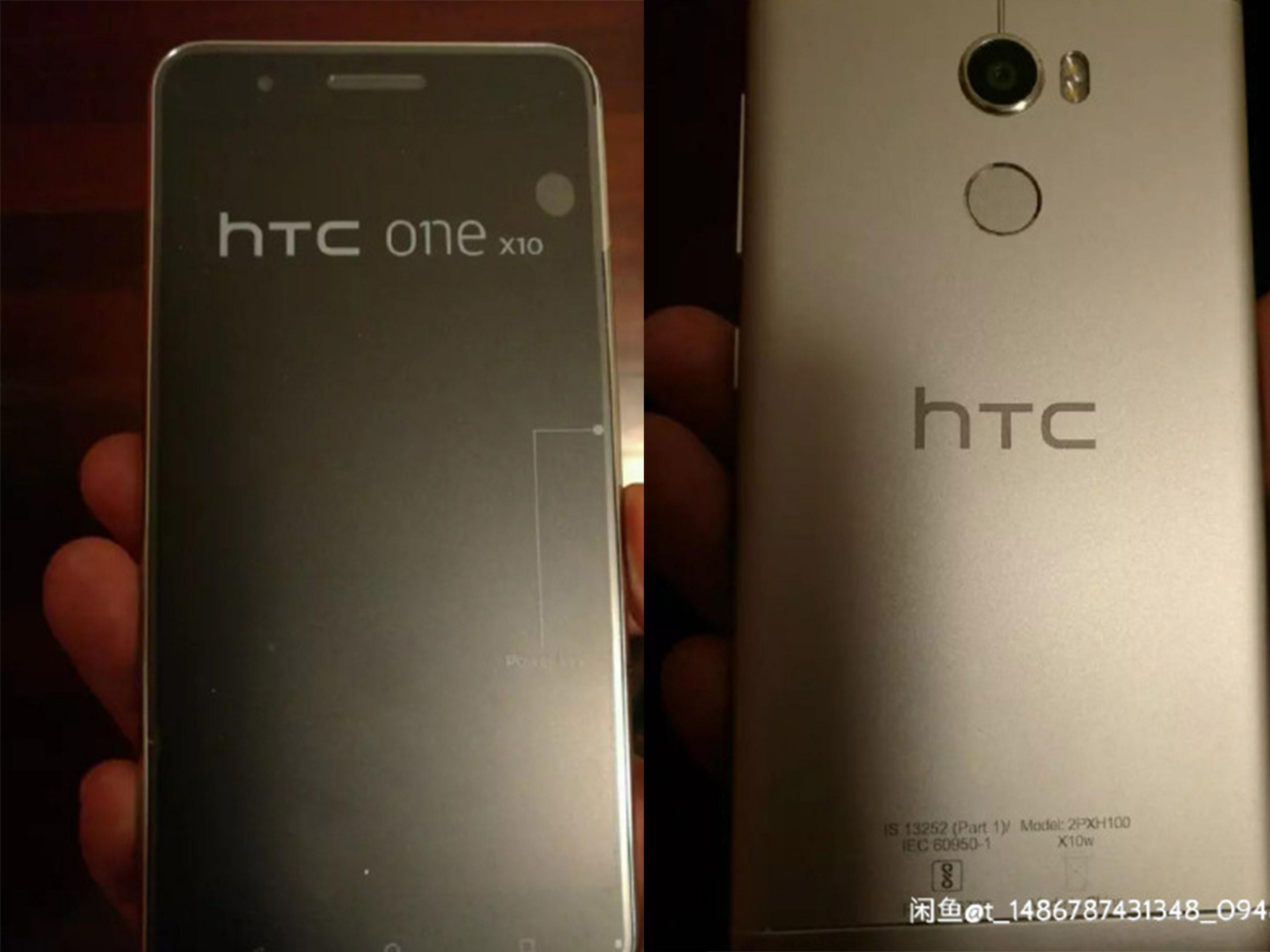 htc one x10 front and back