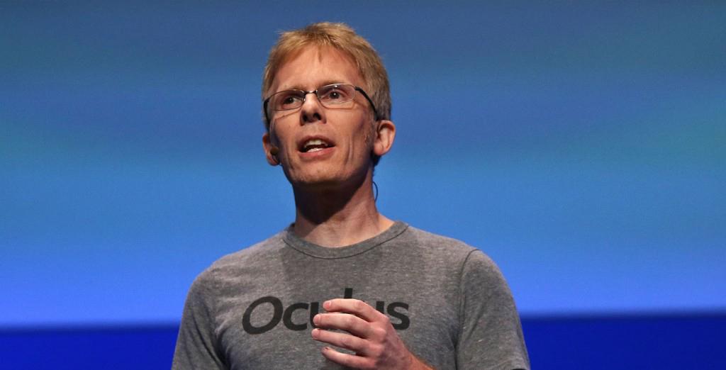 Developer John Carmack on stage