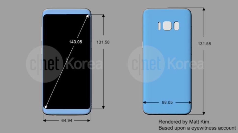 Leaked Samsung Galaxy S8 rendering